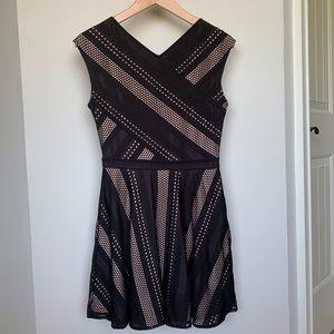 BCBG Black and Nude patterned Dress